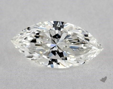 <b>0.53</b> Carat F-SI1 Marquise Cut Diamond