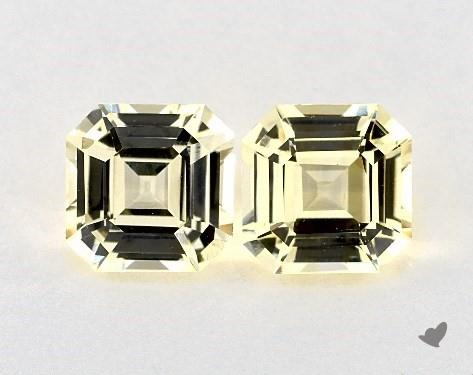 6.24 Total Carat Weight Emerald Natural Yellow Sapphires