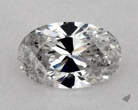 0.84 Carat F-I1 Oval Cut Diamond