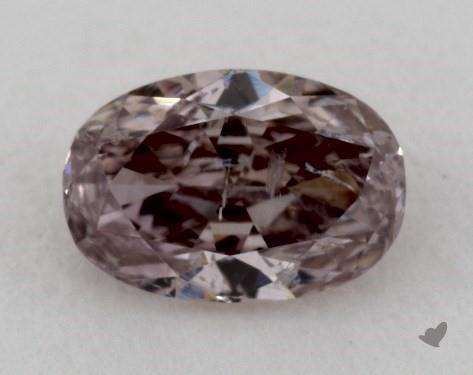 0.41 Carat FANCY BROWNISH PURPLISH PINK Oval Cut Diamond