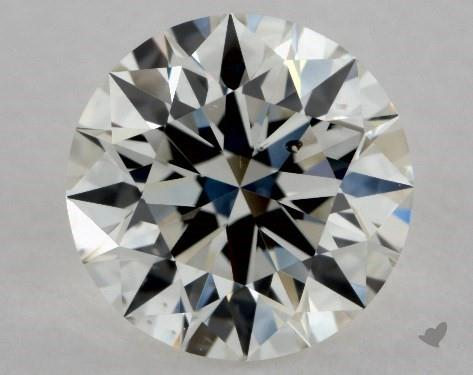 1.32 Carat H-SI1 Excellent Cut Round Diamond
