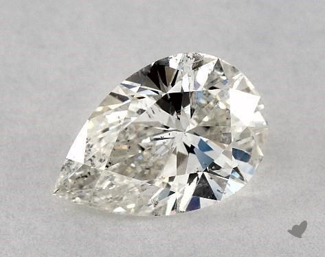 0.75 Carat J-SI2 Pear Shape Diamond