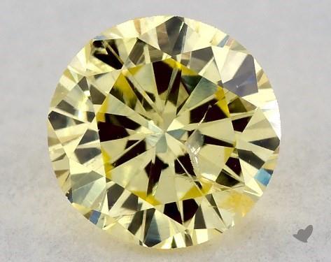 0.33 Carat FANCY  YELLOW-I1 Round Cut Diamond