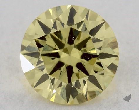 0.34 Carat FANCY INTENSE  YELLOW-SI2 Round Cut Diamond