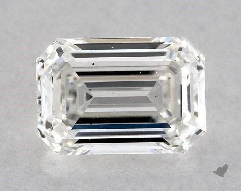 0.72 Carat H-VS2 Emerald Cut Diamond