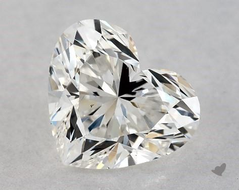 0.92 Carat H-VS2 Heart Shape Diamond