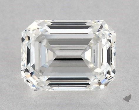 0.72 Carat F-SI2 Emerald Cut Diamond