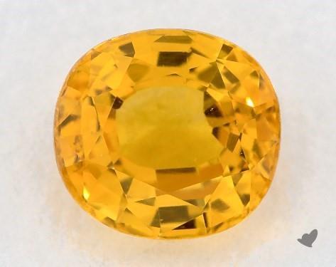 0.98 carat Cushion Natural Yellow Sapphire
