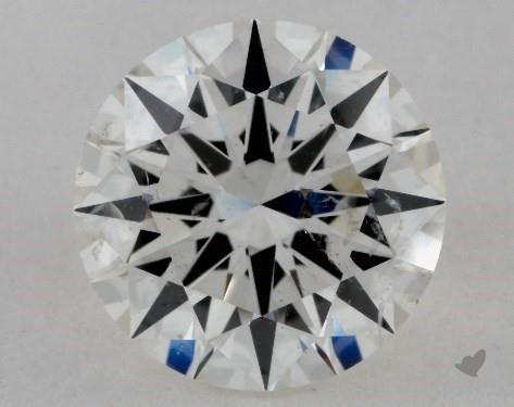2.52 Carat H-SI2 Excellent Cut Round Diamond