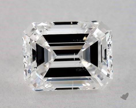 1.05 Carat D-SI1 Emerald Cut Diamond