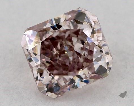 0.36 Carat FANCY BROWNISH PURPLISH PINK-SI2 Cushion Cut Diamond