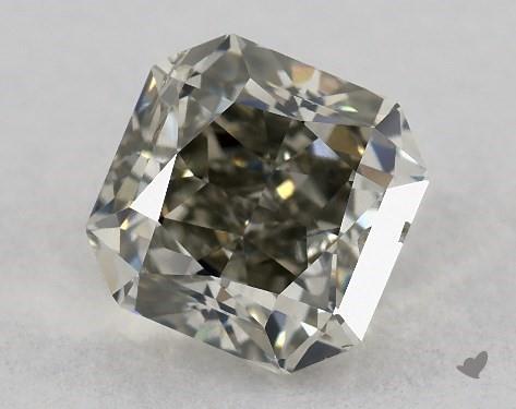 0.80 Carat FANCY  GRAY-I1 Radiant Cut Diamond