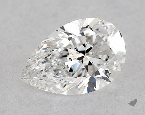 1.03 Carat F-SI1 Pear Shape Diamond