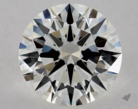 0.63 Carat H-VVS2 Excellent Cut Round Diamond