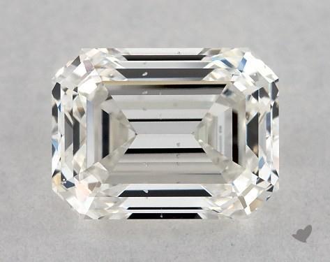 0.71 Carat H-SI1 Emerald Cut Diamond