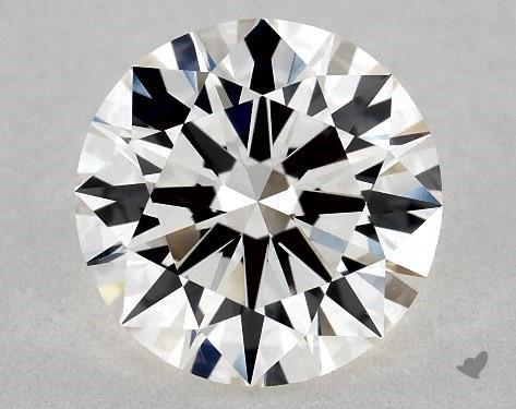 1.09 Carat H-VVS1 Excellent Cut Round Diamond