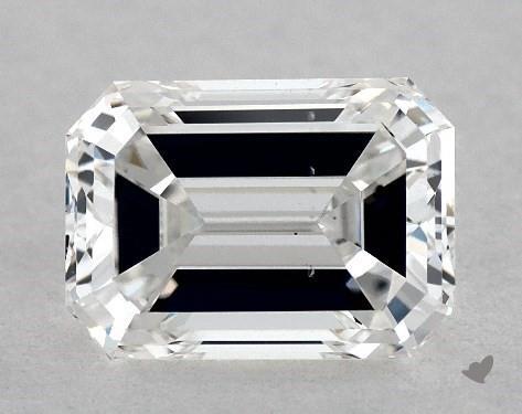 1.06 Carat F-SI1 Emerald Cut Diamond
