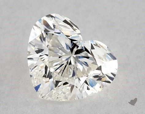 0.85 Carat H-SI2 Heart Shape Diamond