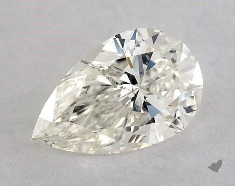 0.81 Carat J-SI2 Pear Shape Diamond