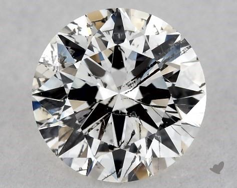 0.70 Carat H-I1 Excellent Cut Round Diamond