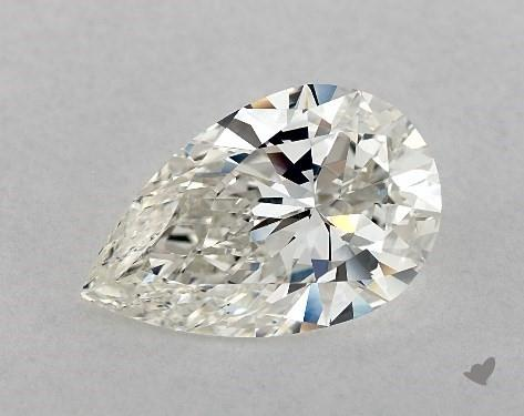 4.07 Carat H-VS2 Pear Shape Diamond