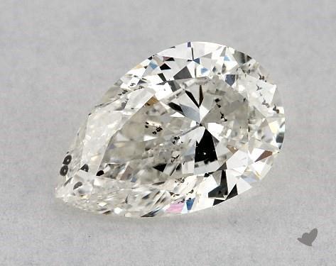 0.71 Carat I-SI2 Pear Shape Diamond
