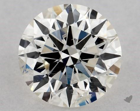 0.70 Carat J-I1 Excellent Cut Round Diamond