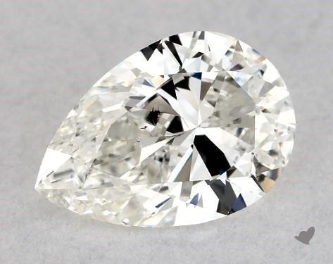 0.71 Carat H-SI2 Pear Shape Diamond