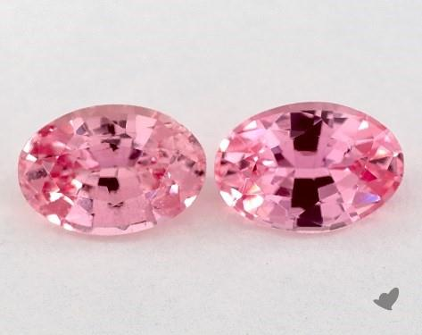 1.09 Total Carat Weight Oval Natural Pink Sapphires