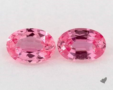 1.08 Total Carat Weight Oval Natural Pink Sapphires