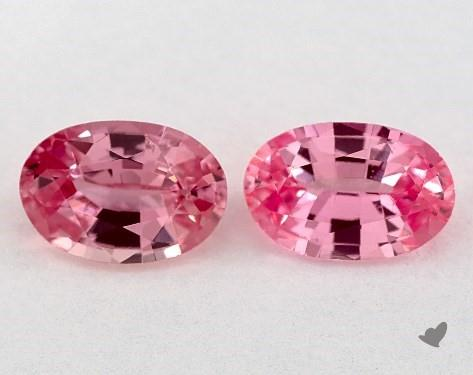 <b>1.08</b> Total Carat Weight Oval Natural Pink Sapphires