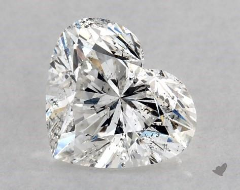 0.75 Carat F-SI2 Heart Shape Diamond