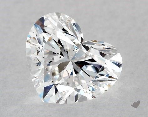 0.71 Carat D-SI2 Heart Shape Diamond