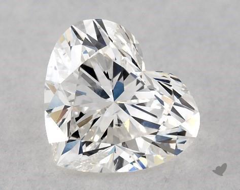 0.75 Carat F-SI2 Heart Shape Diamond