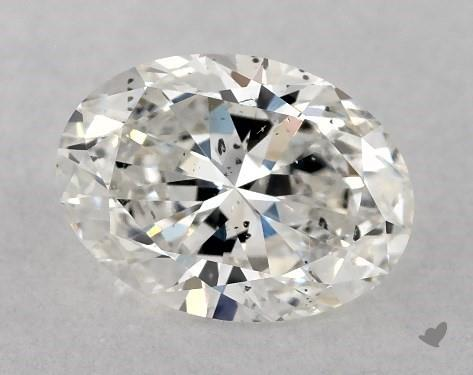 0.76 Carat F-SI2 Oval Cut Diamond