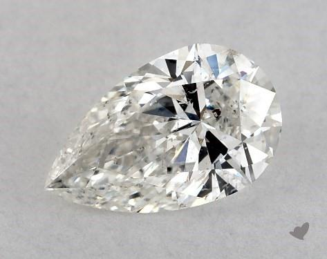 0.72 Carat G-SI2 Pear Shape Diamond