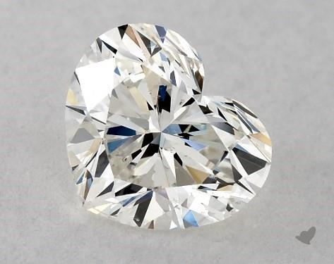 0.72 Carat H-SI2 Heart Shape Diamond