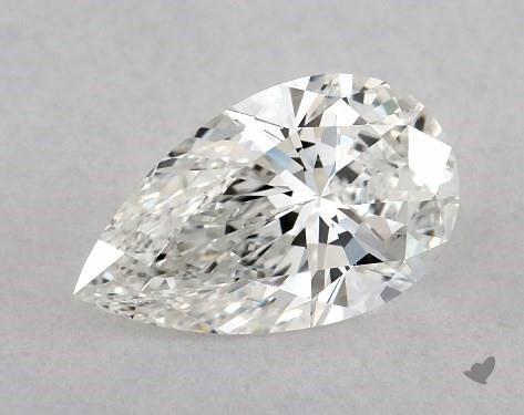 1.08 Carat F-IF Pear Shape Diamond